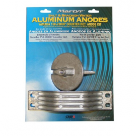Anodes Yamaha en kit 150-200cv contre rotation