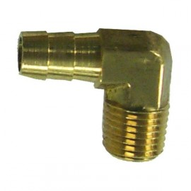 "Raccord Coude Cannele 1/4"" D10mm"